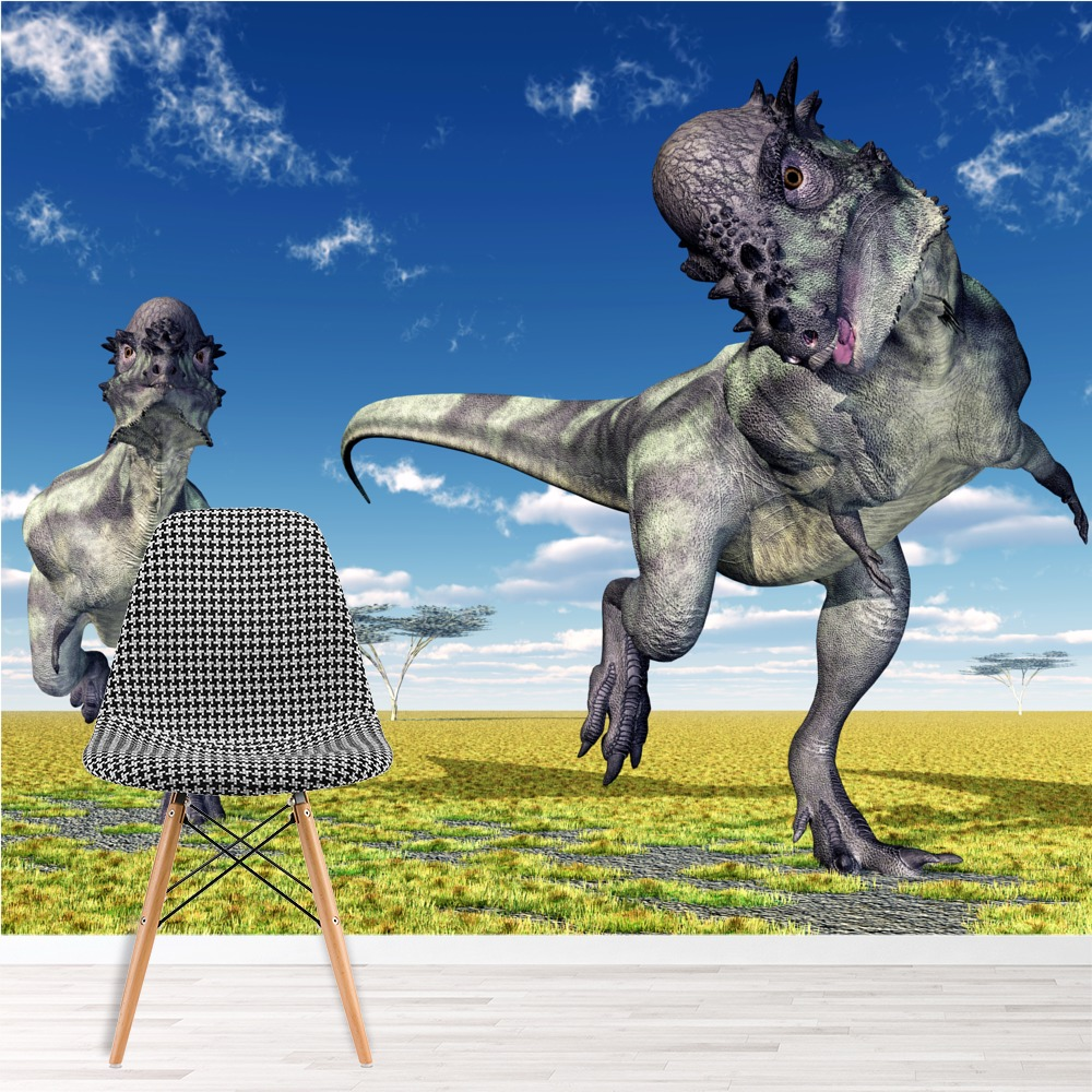 Pachycephalosaurus Dinosaur Wall Mural Jurassic Wallpaper kids Photo