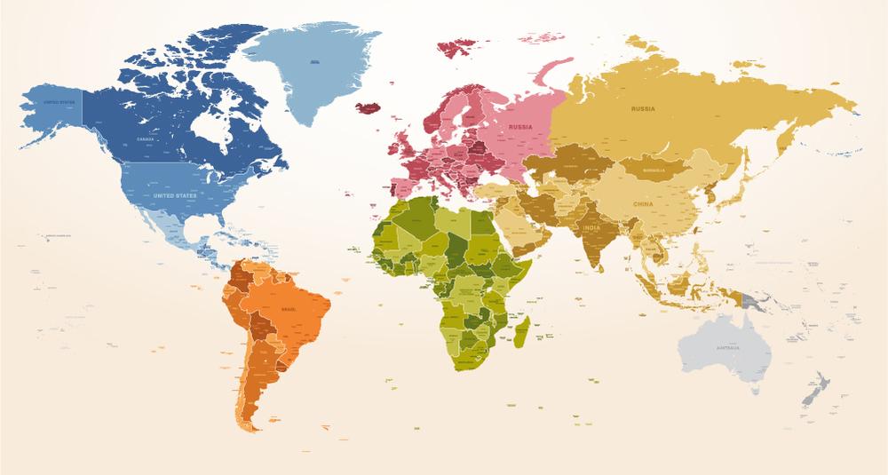 World Map Wallpaper Wall Mural