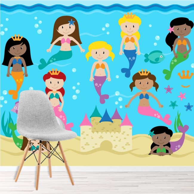 Wall Mural Under The Sea Wallpaper Girls Bedroom Photo Home Decor
