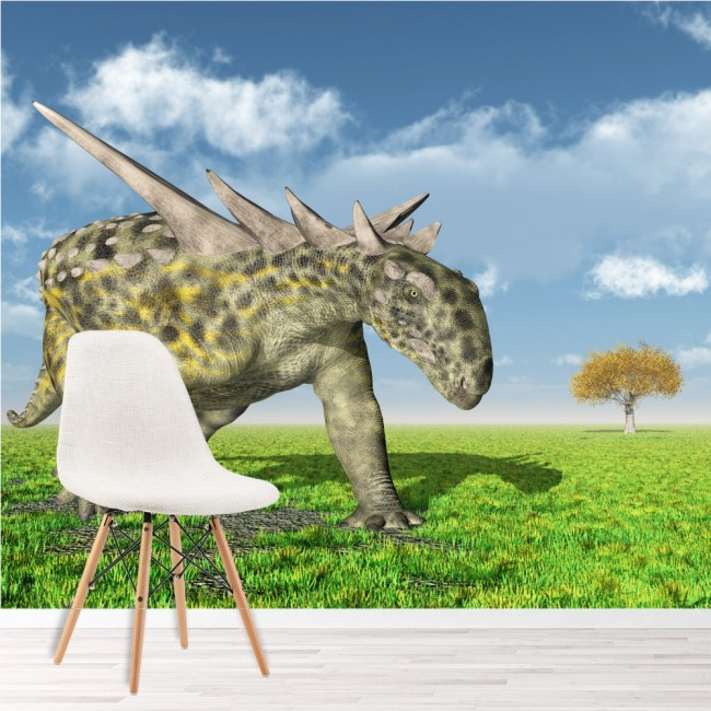 Sauropelta Dinosaur Wall Mural Jurassic Wallpaper kids Bedroom Photo