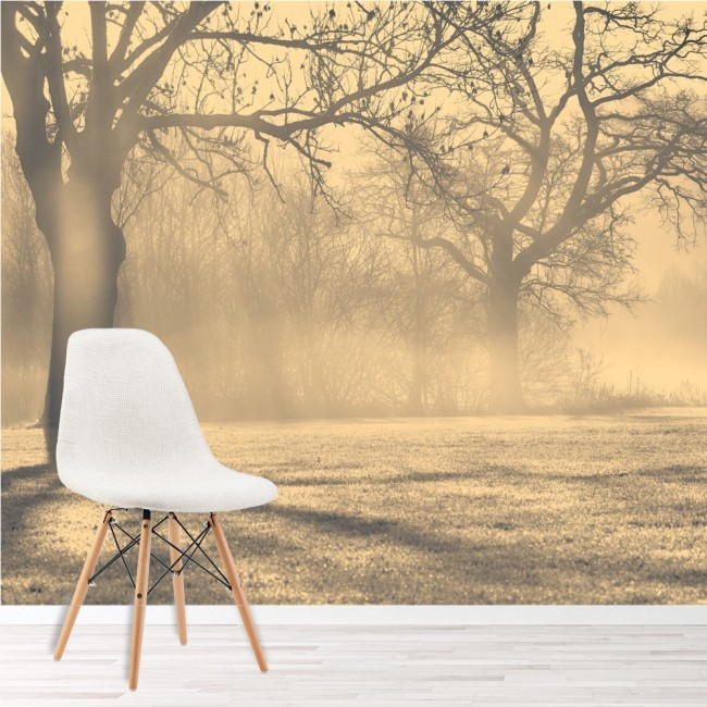 Misty Trees Wall Mural Forest Landscape Wallpaper Living Room Photo Home  Decor Part 64
