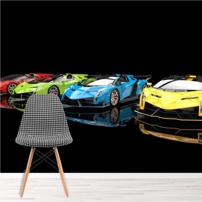 Sports Cars Wall Mural Motorsport Wallpaper Boys Bedroom Photo Home