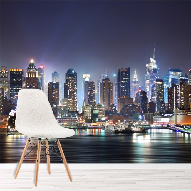 New York City Wall Mural Skyscraper Skyline Wallpaper Bedroom Photo