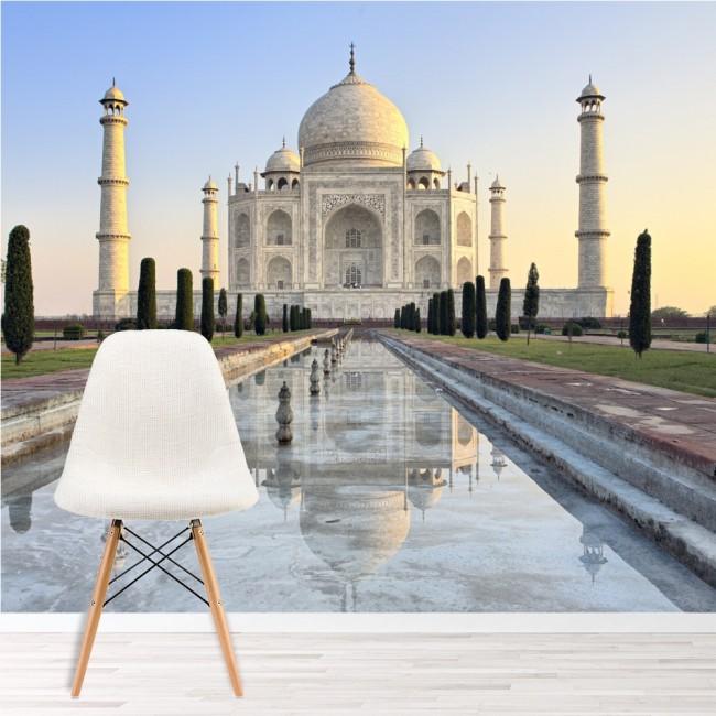 Sunrise Taj Mahal Wall Mural Landmark India Wallpaper Living Room Photo  Decor