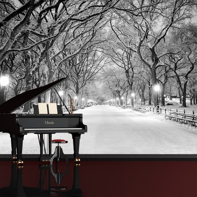 Central Park New York Wall Mural Black Amp White Wallpaper