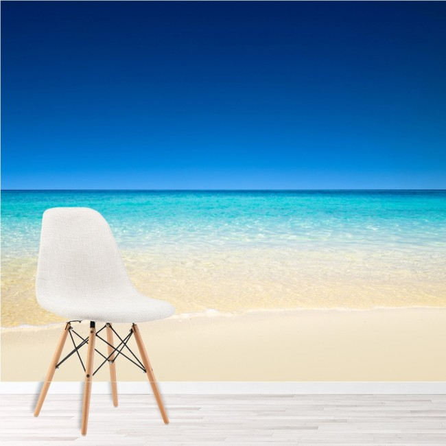 Tropical Blue Sea Wall Mural White Sand Beach Wallpaper Bedroom