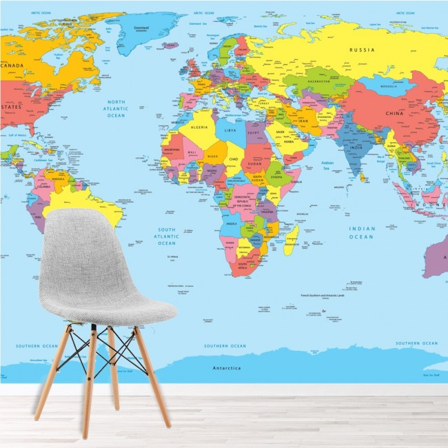 world map wall mural maps wallpaper living room bedroom