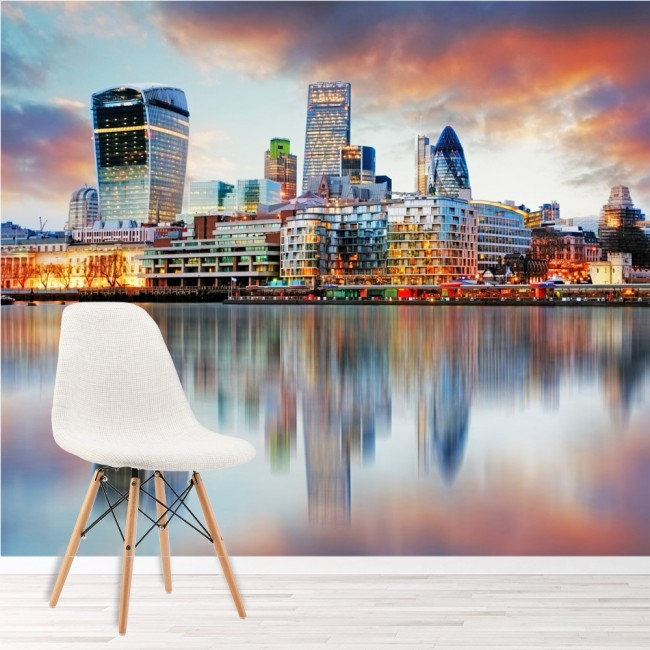 London Sunset Wall Mural City Skyline Wallpaper Bedroom Office Photo Home  Decor