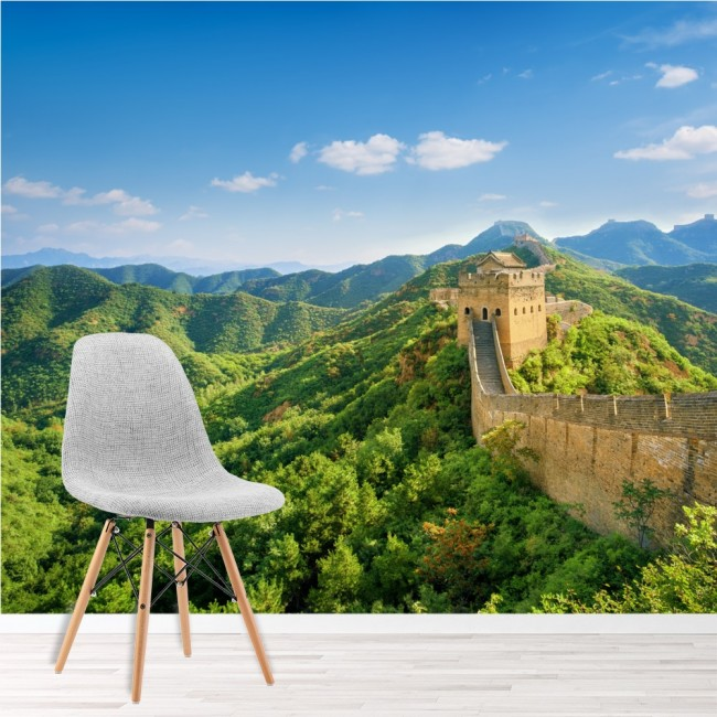 The great wall wall mural landmark china wallpaper bedroom for Chinese wall mural