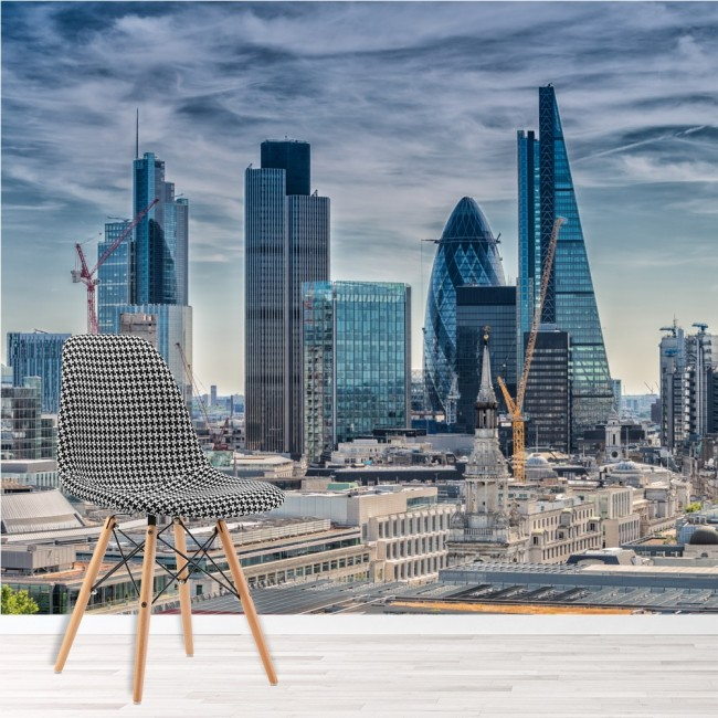 London cityscape wall mural city skyline wallpaper office for City wallpaper mural