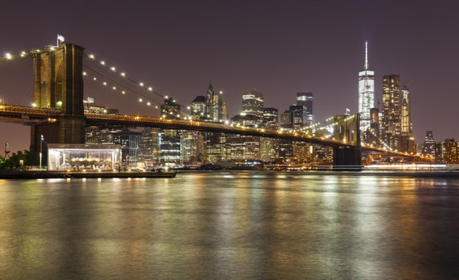 New York City Wall Mural Brooklyn Bridge Wallpaper Cityscape Photo