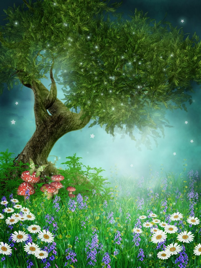 Enchanted Forest Spring Fairytale Wallpaper Wall Mural
