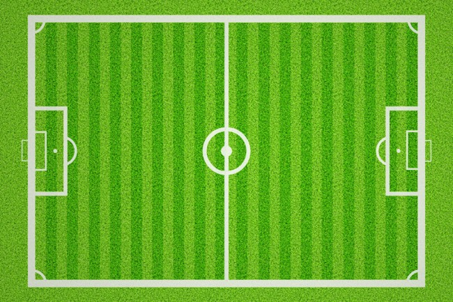 Football Pitch Wall Mural Wallpaper: Football Pitch Sports Background Wallpaper Wall Mural