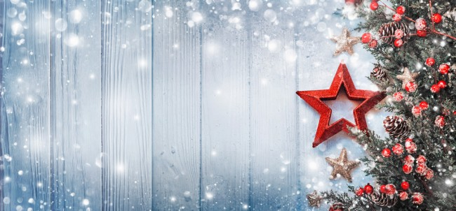 Christmas Wall Paper.Red Star Christmas Wallpaper Wall Mural