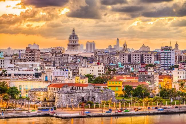 Havana City Skyline Cuba Cityscape Wallpaper Wall Mural