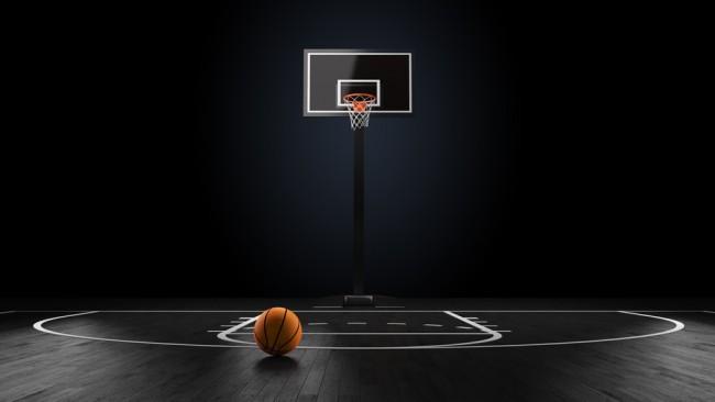 Basketball Court Wallpaper Wall Mural