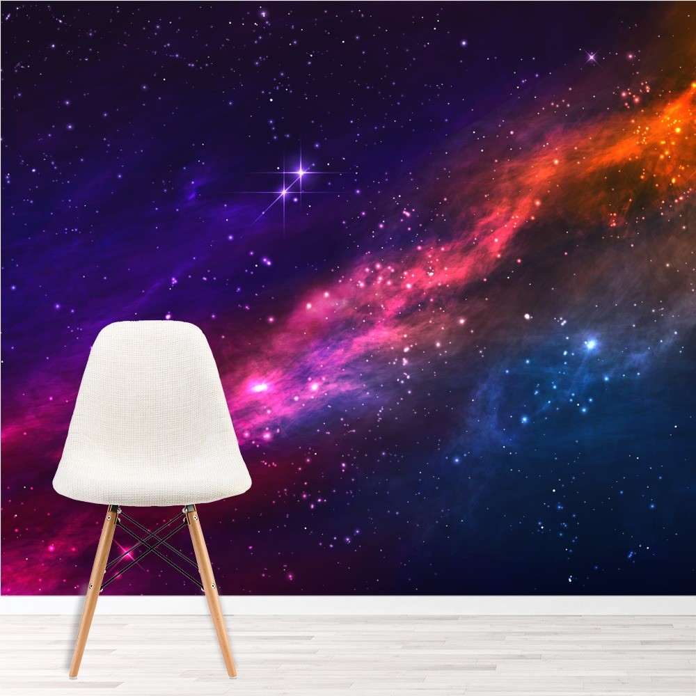 Outer Space Nebula Wallpaper Wall Mural