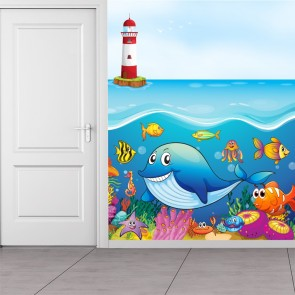Under The Sea Wall Mural Ocean Animals Wallpaper Kids Bedroom Photo Home  Decor Part 55