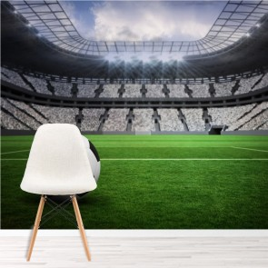 Football Wall Mural Football Stadium Wallpaper Boys Bedroom Photo Home Decor Part 49