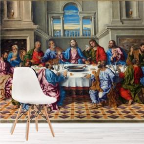 Jesus Christ Wall Mural The Last Supper Wallpaper Religion Photo Home Decor Part 36