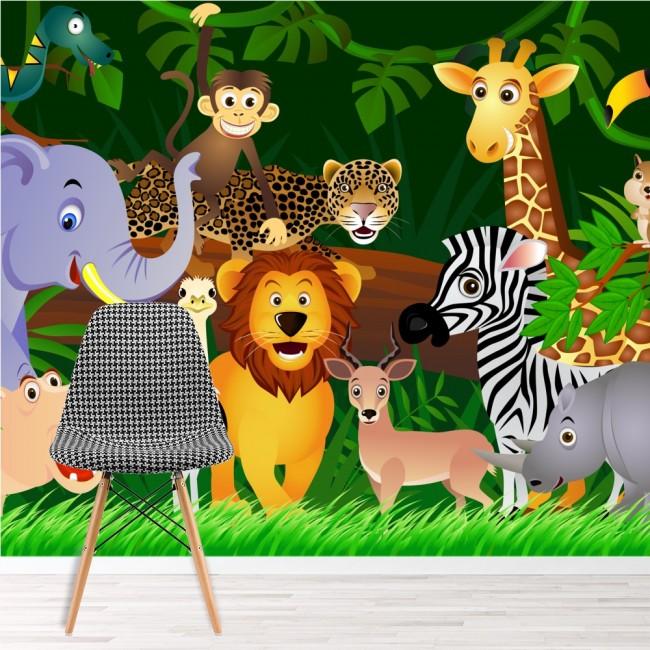 Tapete kinderzimmer tiere  Tiere Wandbild Löwe Tapete Kinderzimmer Kinderzimmer Foto ...