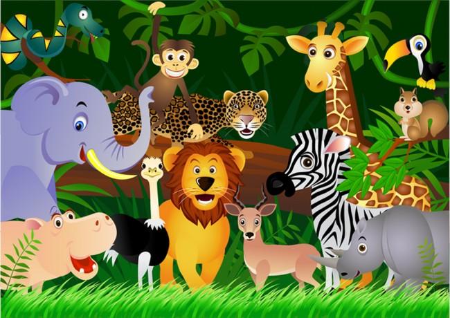 Dschungel Tiere Fototapete Lowe Tapete Kinderzimmer Kinderzimmer