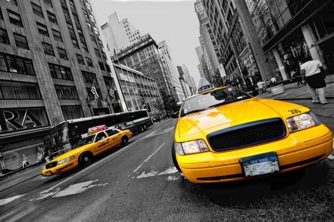 New York Taxi Fototapete Schwarz-Weiss Tapete Wohnzimmer ...
