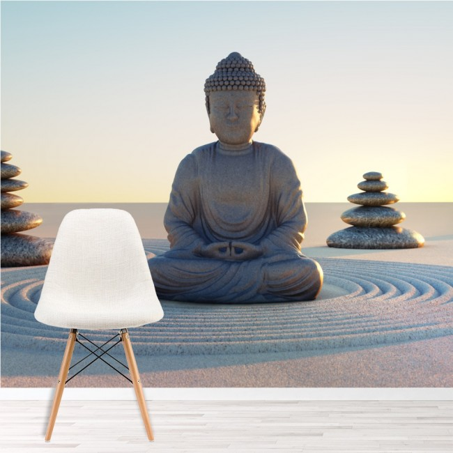 buddha figur wandbild religion tapete schlafzimmer foto. Black Bedroom Furniture Sets. Home Design Ideas