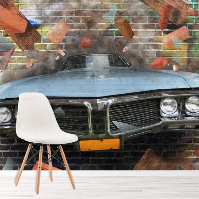 Graffiti-Auto-Kunst Fototapete 3D Tapete Kinderzimmer Foto  Inneneinrichtungen