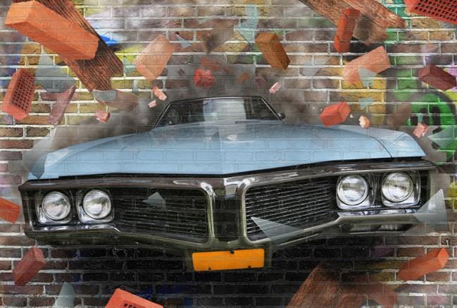 Graffiti Auto Kunst Fototapete 3D Tapete Kinderzimmer Foto  Inneneinrichtungen