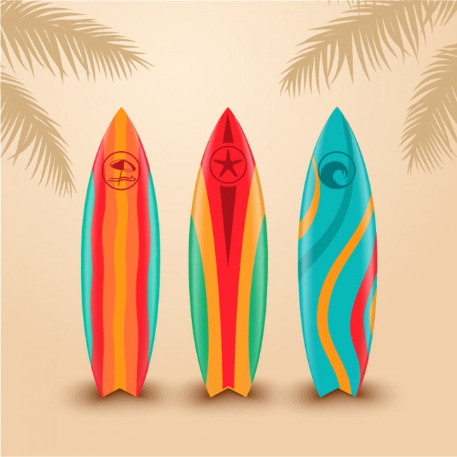 Surf design wandbild surfbrett tapete sport schlafzimmer - Disenos de tablas de surf ...