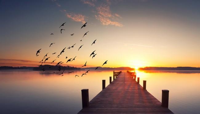 Ruhiger Ozean Fototapete Sonnenuntergang Tapete Wohnzimmer Schlafzimmer  Foto Inneneinrichtungen