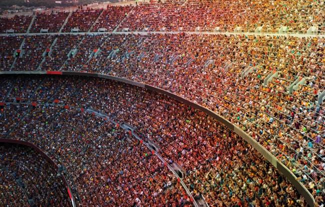 Uberfulltes Stadion Fototapete Fussball Tapete Sport Hobby Foto Inneneinrichtungen
