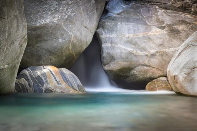 Blauer Wasserfall Fototapete Natur Tapete Schlafzimmer Badezimmer Foto  Inneneinrichtungen
