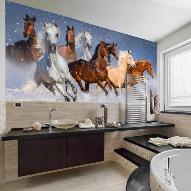 Einfach Fototapete Eigenes Foto Fotos Von Wohndesign Dekoration