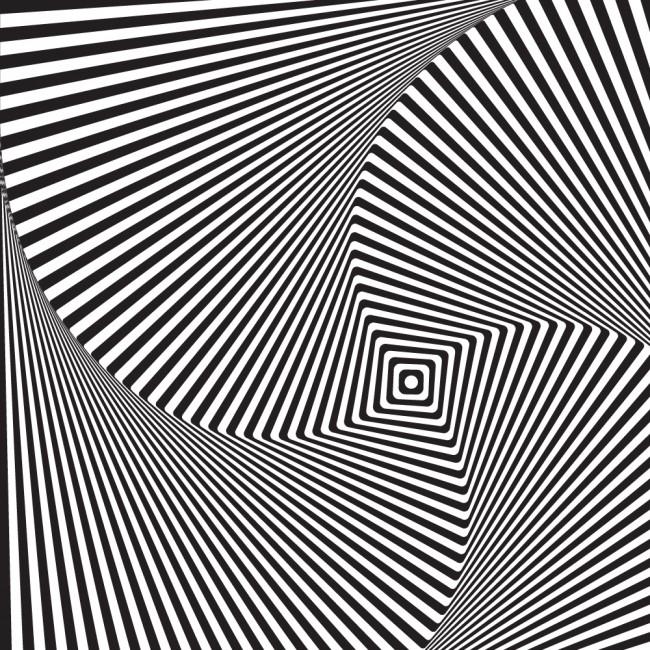 Black White 3d Optical Illusion Wallpaper Wall Mural
