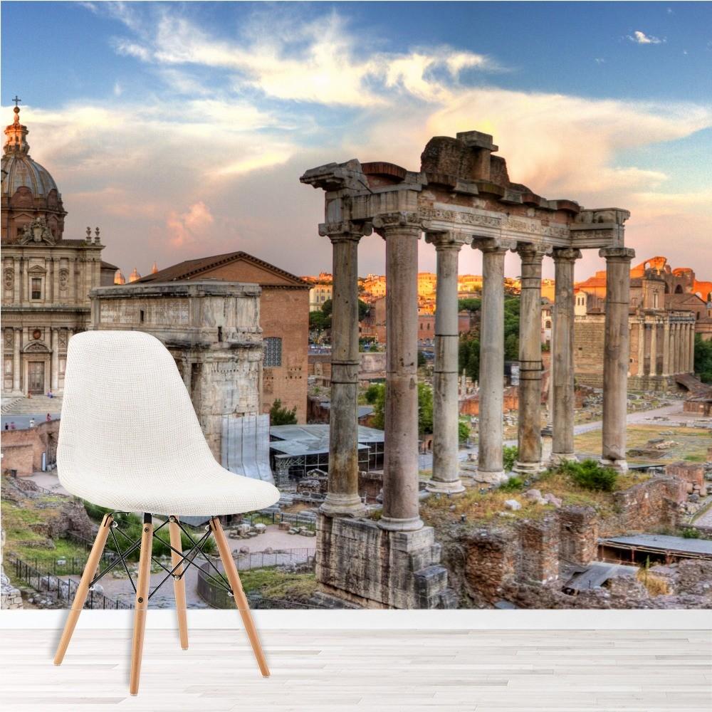 rom skyline panorama fototapete italien tapete wohnzimmer