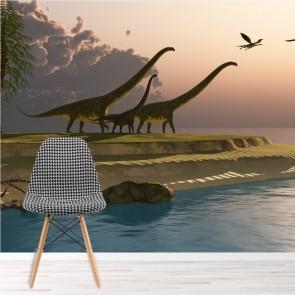 dinosaures des gamins wall murals. Black Bedroom Furniture Sets. Home Design Ideas