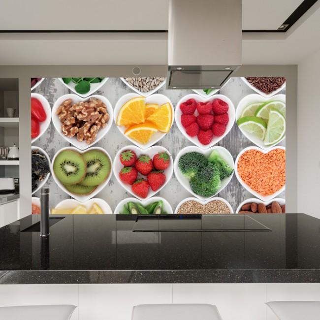 coraz n de frutas y verduras fotomurales comida murales On fotomurales chile precios