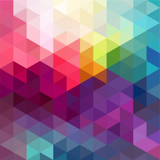 Rainbow Colours Abstract Art Wallpaper Wall Mural
