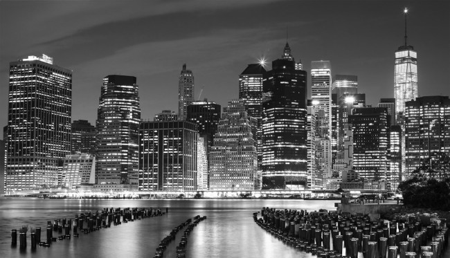 New York City Black White Wallpaper Wall Mural