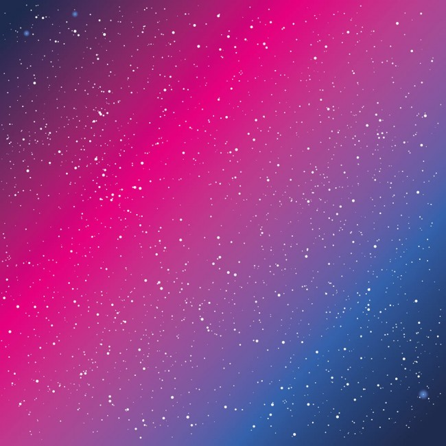 Blue Pink Galaxy Space Stars Wallpaper Wall Mural