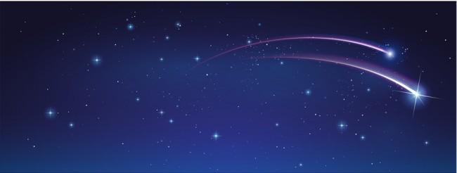 Shooting Star Panoramic Wallpaper Wall Mural
