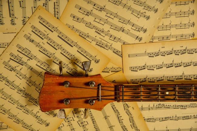 Musica Fotomurali Note sulla musica di chitarra Carta Da Parati ...