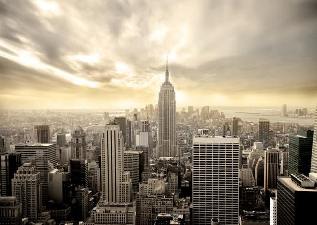 Grattacieli di New York Fotomurali Skyline della città Carta Da Parati  Soggiorno Photo Decor