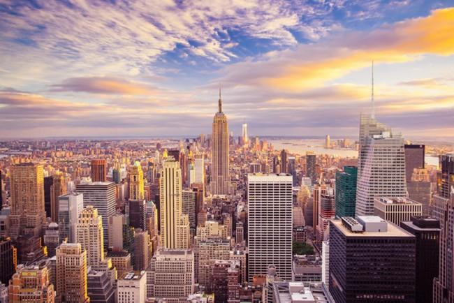 Tramonto Grattacieli Fotomurali Skyline di New York Carta Da Parati  Soggiorno Photo Decor