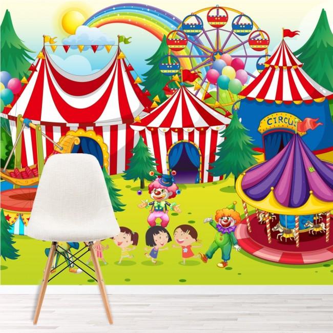 Favorito Murale area fieristica Sfondo Sala giochi per bambini Foto  FL28