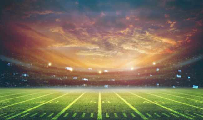 Football Pitch Wall Mural Wallpaper: American Football Sport Pitch Wallpaper Wall Mural