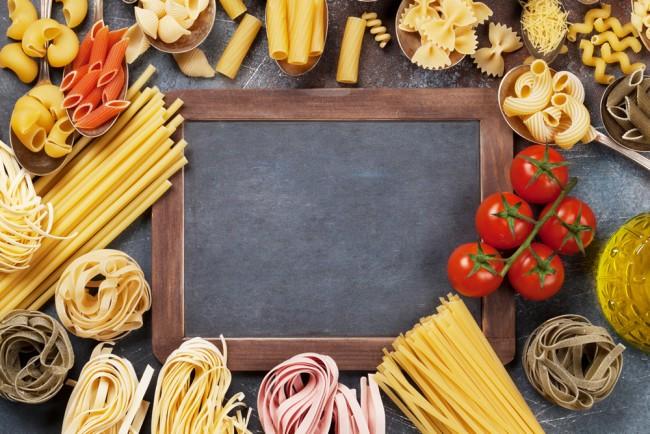 Pasta Ingredients Kitchen Wallpaper Wall Mural
