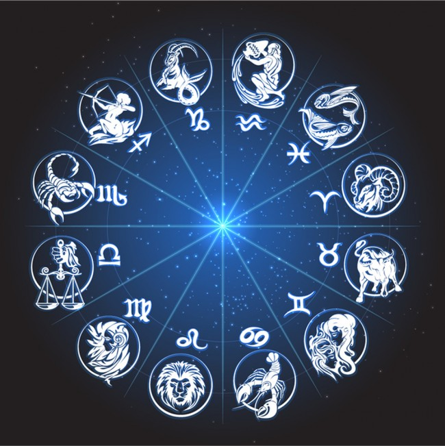 Signs Of The Zodiac Wall Mural Astrology Wallpaper Bedroom
